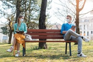 Couples and Coronavirus in masks need couples counseling in Salt Lake City